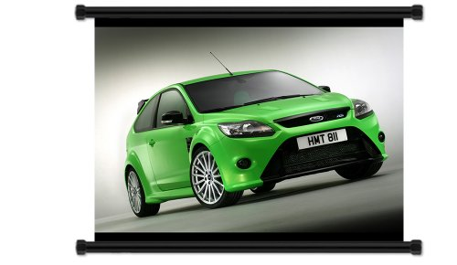 Ford Focus Rs Fabric Wall Scroll Poster
