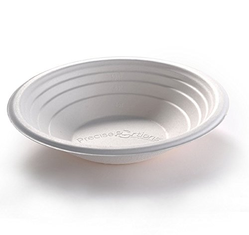(Precise Portions PP16CB-25 Disposable Soup Bowls, Cereal Salads, Dietitian Developed Portion Control, Weight Loss, Blood Sugar Metabolism, Compostable Bowls, 16 oz - Pack of 25.)