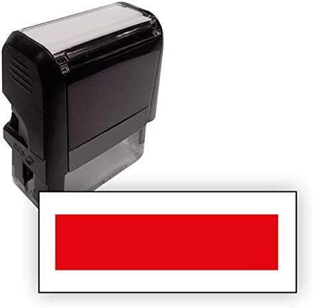 Red Personalised Wording Office Business Self-Inking Stamp 38x14mm Primary Teaching Services