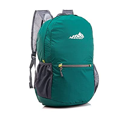 MANSOV Water Resistant Foldable Hiking Backpack Packable Daypack Lightweight Travel Bag