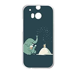 DIY Elephant Theme Phone Case Fit To HTC One M8 , A Good Gift To Your Family And Friends