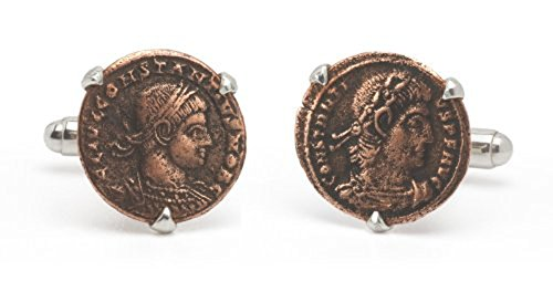 Tokens & Icons Bronze Roman Coin Cufflinks (55RC) by Tokens & Icons (Image #2)