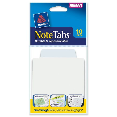 Avery NoteTabs, 3 x 3.5 Inches, Pastel Blue, 10 per pack (16323)