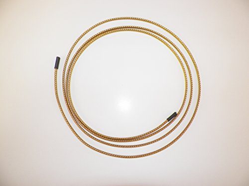 "1/8"" BRAIDED BRASS EXPANDABLE FLEX SLEEVE, WIRING HARNESS, LOOM, FLEXABLE WIRE COVER (10 Feet)"