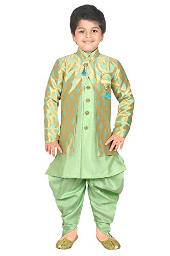 ahhaaaa Kids Ethnic wear Waistcoat, Indo Western Sherwani and Dhoti Pant for Boys_426