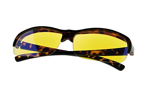 Fit over Blue Light Blocking Glasses for Better Sleep - Filters 94% of Artificial Blue Light - Anti Eye Strain Large Lens Large Tortoise Frame by Computer Glasses
