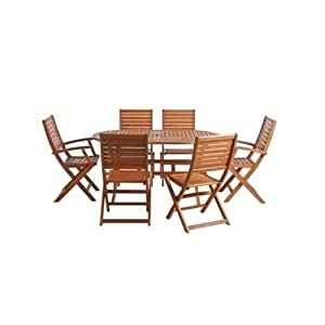 Classic 8 Piece Patio Set U2013 6 Chairs, 1 Table And A Parasol. This 6 Seater  Outdoor Furniture Set Is Ideal For Your Next Barbeque Party U2013 A Stylish Patio  Set ...