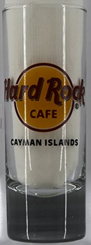 Hard Rock Cafe Cayman Islands Red Circle Logo Cordial Shot Glass -