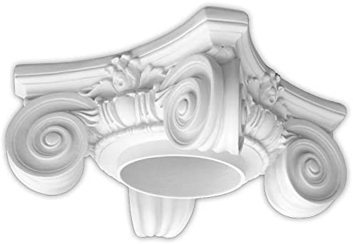 M Size Composite Resin Roman Ionic Capital for Hollow Column Unfinished Dimensions In Images//Details Paint Ready Load Bearing
