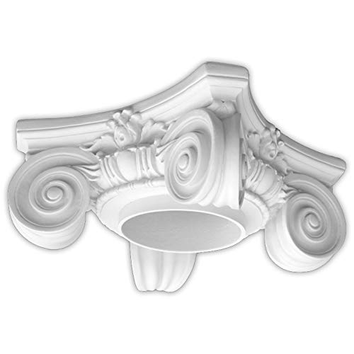 Scamozzi Capital for Hollow Columns - L Size - Composite Resin - Unfinished - Paint Ready - Load Bearing - Dimensions In Images/Details Resinart East Inc R-CAPIT-S-10