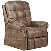 Catnapper Ramsey Power Lift Lay Flat Recliner with Heat & Massage in Silt