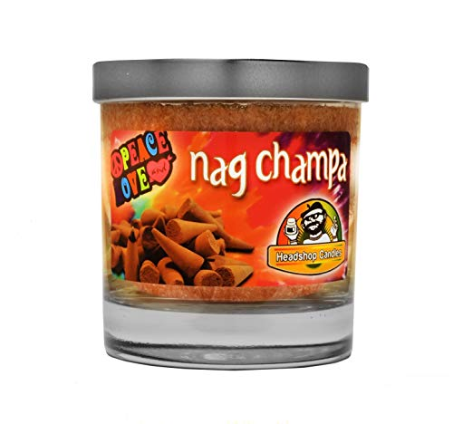 (Nag Champa triple scented odor eliminating candle 8 ounce jar made from natural palm)