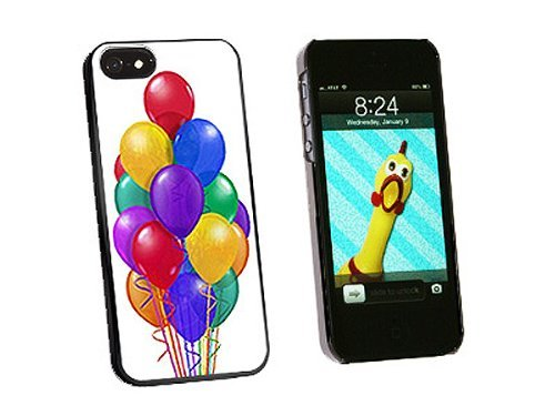 Graphics and More Bunch of Party Balloons Birthday Snap-On Hard Protective Case for iPhone 5/5s - Non-Retail Packaging - Black