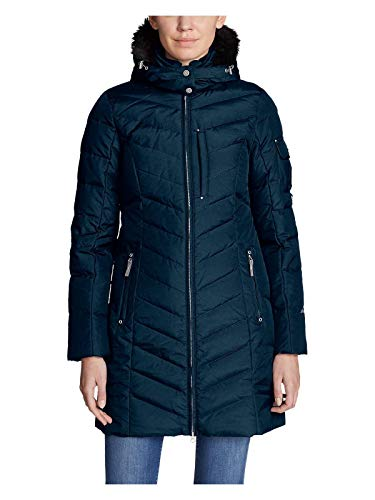 (Eddie Bauer Women's Sun Valley Down Parka, Navy Regular L Regular)