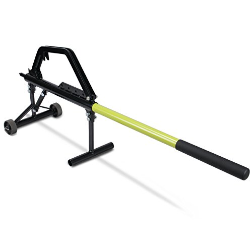 ARKSEN All-in-One Deluxe Timberjack Log Holder Lifter Yard Gardening Durable Jack Tool Roller w/Wheels & Hook