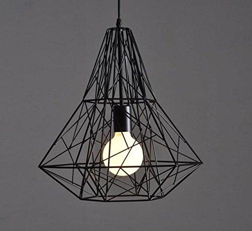 Nclon Vintage Industrial Lámpara de techo Metal cage,E27 ...