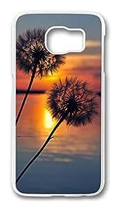 Brian114 Case, S6 Case, Samsung Galaxy S6 Case Cover, Beautiful Dandelion Retro Protective Hard PC Back Case for S6 ( white )