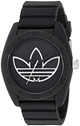 adidas Men's 'Santiago' Quartz Plastic and Silicone Casual Watch, Color:Black (Model: ADH3189)
