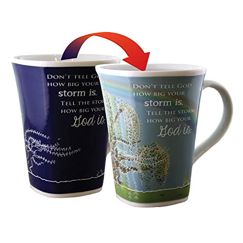 (Color Changing Mug - Storm Story - Large 16 Ounce - Porcelain)