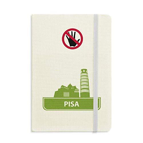 Pisa Italy Green Landmark Pattern Secret Notebook Classic Journal Diary A5