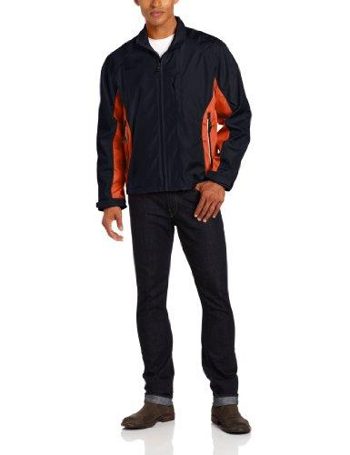 London Fog Men's Crawford Jacket, Navy, (Crawford Curved)