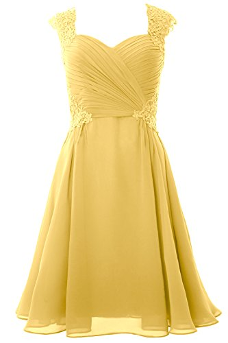 Cocktail Sleeve Cap Women MACloth 2017 Dress Canary Short Gown Party Wedding Formal qHBOAnt