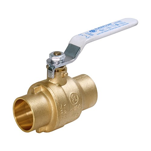 - Everflow Supplies 610C001-NL Lead Free Full Port Sweat Ball Valve, 1-Inch