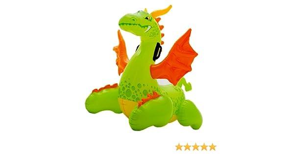 INTEX - Figura dragón hinchable con asas, 140 x 69 cm: Amazon.es ...