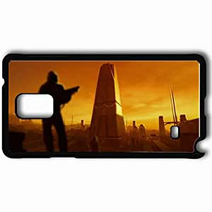 Personalized Samsung Note 4 Cell phone Case/Cover Skin Anarchy Black