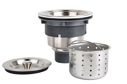 NEVER WORRY ABOUT CLOGGING WITH THIS KITCHEN SINK STRAINER WITH DEEP WASTE BASKET!