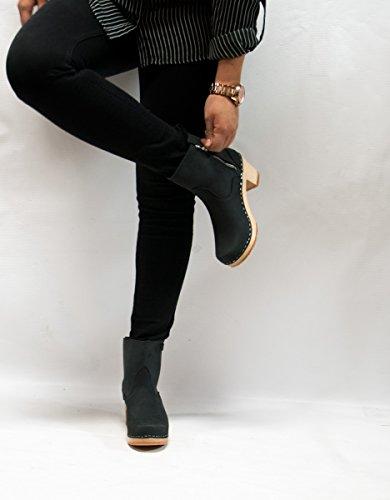 buy cheap genuine Sandgrens Swedish High Heel Wooden Clog Boots for Women | New York Black buy cheap view cheap sale wiki free shipping real jtz1G6i