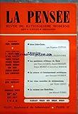 PENSEE (LA) [No 67] du 01/05/1956 - irene joliot-curie par cotton - pierre curie par irene et frederic joliot-curie - les problemes d'afrique du nord par lacoste, prenant, brunet et brisson - la science et l'enseignement sovietiques par cogniot - les voies nouvelles du revisionnisme par leduc - le racisme aux etats-unis par cornu