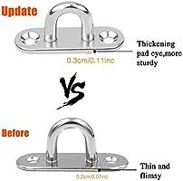 M6 Ceiling Hook Pad Eye Plate Stainless Steel Wall Hook Hanger Heavy Duty x5