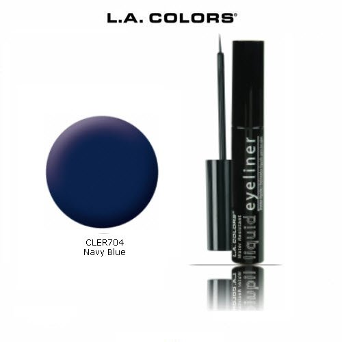 New 3 Pack L.A. Colors Liquid Eyeliner 704 Navy Blue free shipping