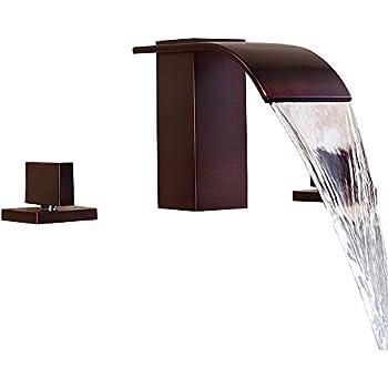 Lovedima Milly Waterfall Modern Widespread Bathroom Sink