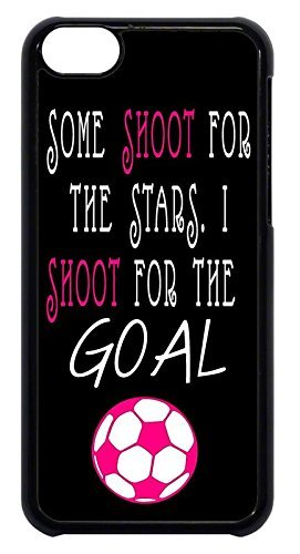 FavorPlus Soccer Football Quotes Girl Pink Some Shoot for Stars. Apple  iPhone Custom Case iPhone 6/6s Plus 5.5 inch Durable Snap on