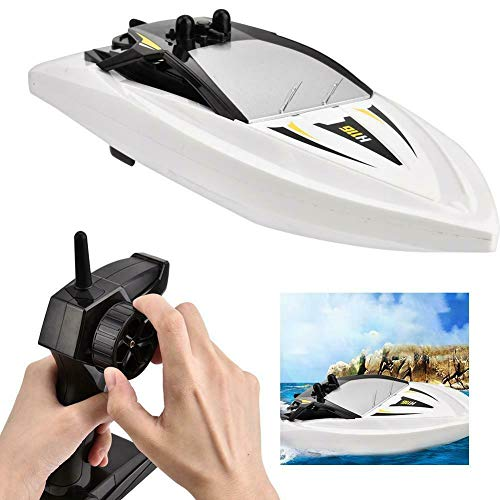 SkyCo H116 RC Boat 2.4Ghz Small Size Remote Control Electric RC Racing Boats Toy for Kids Men Girls Adults Pool Lake Outdoor Use White Color
