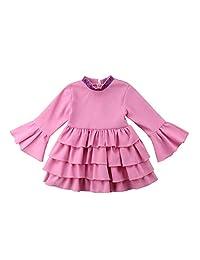 Little Baby Girl Trumpet Sleeve Tutu Skirt A Line 4 Layers Dress Skirts Spring Summer