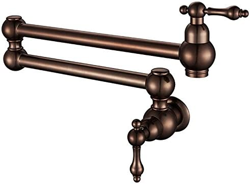 LHbox Tap Sprayer Spout Kitchen Faucet Euro-copper caster swivel kitchen faucet antique kitchen sink faucet fold-pot filler faucet B