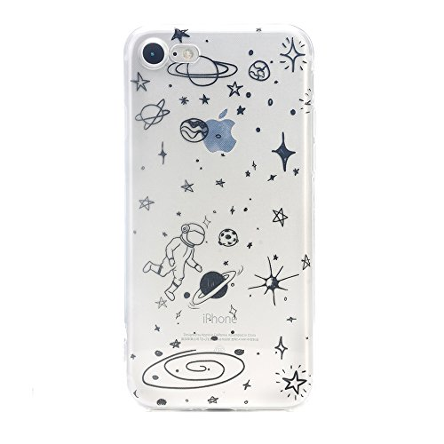 Iphone 7 Case,Iphone 8 Case,Space Cartoon Design Clear Bumper TPU Soft Case Rubber Skin Cover for Iphone 7 / Iphone 8 - 4.7 inch
