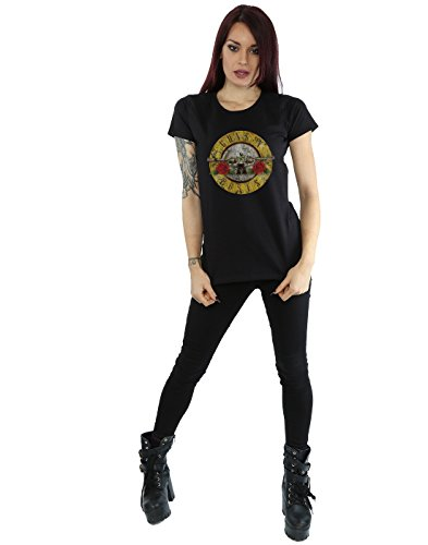 Guns N Roses Damen Vintage Bullet Logo T-Shirt XX-Large Schwarz