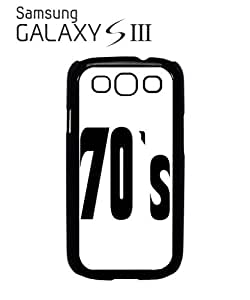 70's Retro Vintage Mobile Cell Phone Case Samsung Galaxy S3 Black by hollowden