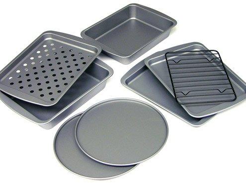 Chefmade 6 Pieces Baking Pan Set Non Stick Carbon Steel