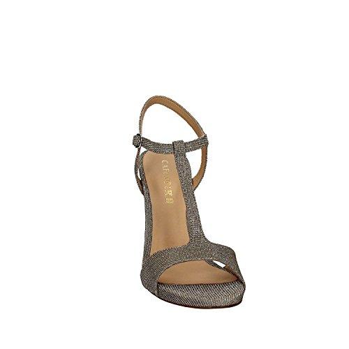 vestir de Sandalias CafèNoir para de Sintético Argento plateado mujer Mnb992 Material ZCIwqpS
