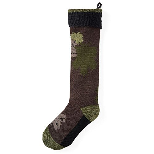 Smartwool Charley Harper Glacial Bay Camo Leaf Stocking - Chocolate Heather One Size
