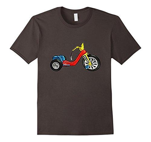 Mens Retro 1970s Big Tricycle Wheel Bike Toy Art T-shirt 3XL - 1970s Retro
