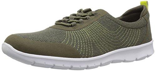 CLARKS Women's Step AllenaBay Sneaker, Khaki mesh, 095 M US