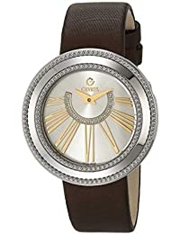 Women's Fifth Avenue Stainless Steel Swiss Quartz Watch with Satin Strap, Brown, 18 (Model: 3246.2)