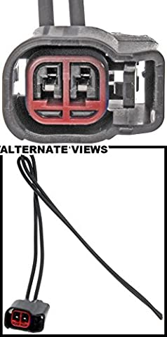 APDTY 756326 Wiring Harness Pigtail Connector (2 Wire 2-Pin; Splice In With Weatherpack Connector) (Replaces Ford WPT159, WPT1051, 1U2Z-14S411-BPA, (2004 Ford F150 Speaker Harness)