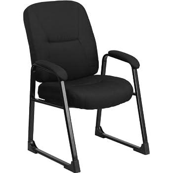 Flash Furniture HERCULES Series Big U0026 Tall 400 Lb. Rated Black Fabric  Executive Side Chair
